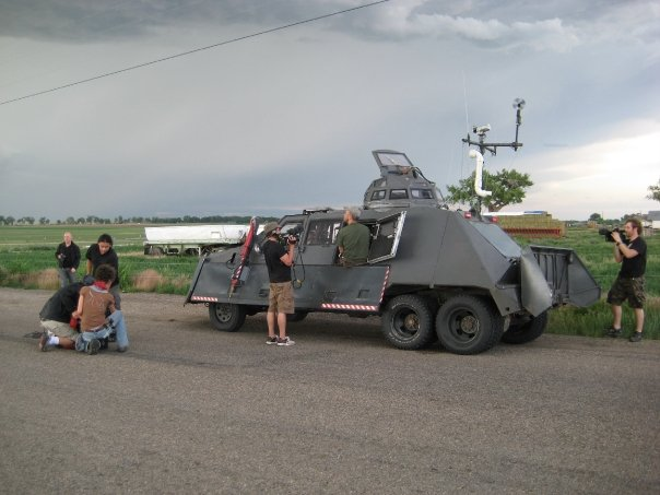 Sean Casey and Tornado Intercept Vehicle II (TIV II) in Bent County, CO