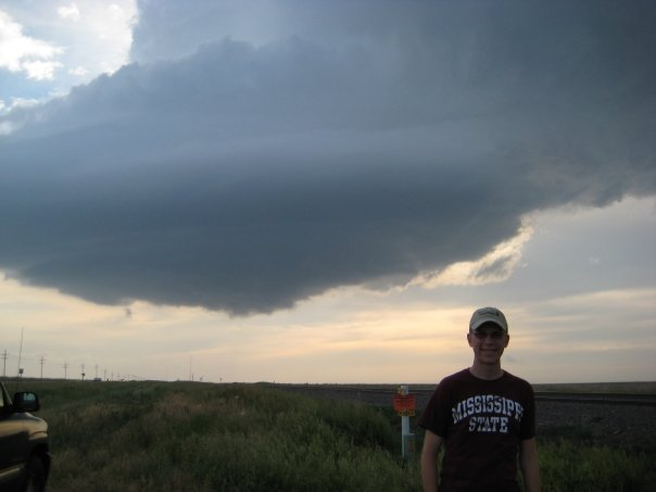 Ryan Hoke with supercell near Greensburg, KS