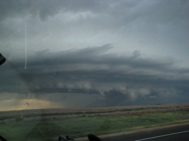 Line of storms near Meade, KS