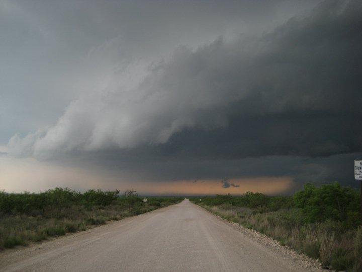 Supercells near Kermit, Texas