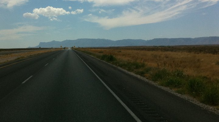 Approaching the Guadalupe Mountains