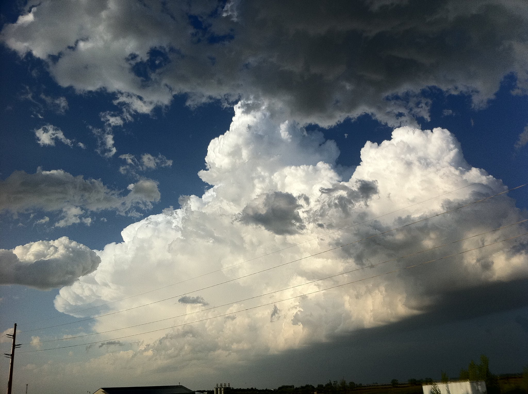 Developing supercell east of Minot, ND