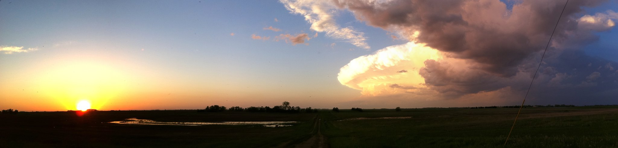 Supercell east of Minot, ND